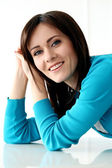 Attractive woman with wide smile — Stock Photo