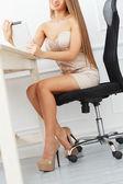 Secretary in the office — Stock Photo