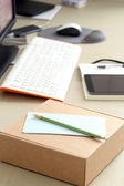 Workspace. Objects on the table — Stock Photo