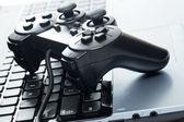 Portatile con joystick — Foto Stock
