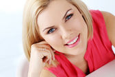 Blonde woman with blue eyes — Stock Photo