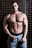 Powerful man with perfect body — Stockfoto