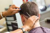 Man during haircut — Stock Photo