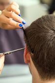 Man during haircut — Stock Photo