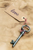 Old, rustic key — Stock Photo