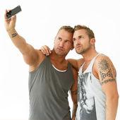 Beste vrienden maken een selfie — Stockfoto
