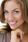 Beautiful woman with smile — Stock Photo