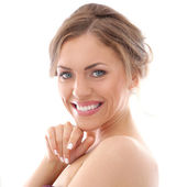 Beautiful woman with wide smile — Stock Photo