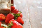 Delicious strawberries — Stock Photo