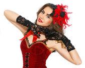 Burlesque attractive dancer — Stock Photo