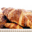 ������, ������: Delicious croissants in the basket