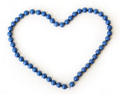 Blue necklace — Stock Photo