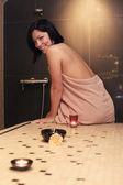 Attractive girl in spa salon — Stock Photo
