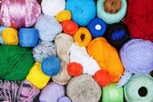 Colorful balls of yarn for knitting — Стоковое фото