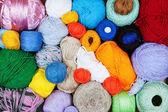 Renkli topları iplik örme için — Stok fotoğraf