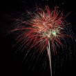 Red fireworks in the night sky — Stock Photo #23706541