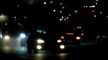 Night road. — Stockvideo