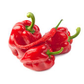 Sweet and hot peppers — Stock Photo