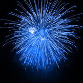 Blue fireworks — Stock Photo