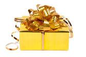 Gift in kleurrijke pakket met bogen — Stockfoto
