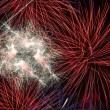 Fireworks in the night sky — Foto de Stock
