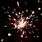 Sparks of bengal fire — Stock Photo