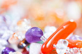 Colored stones in jewelry — Stockfoto