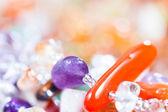 Colored stones in jewelry — Stock Photo