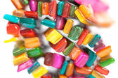Multi-colored stones in the Bijou — Stock Photo