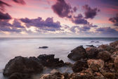 Seascape at sunset — Stockfoto