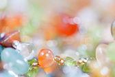 Pedras coloridas em jóias — Foto Stock