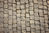 Stone-paved road surface — Stock Photo