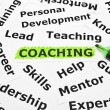 Coaching with other related words — Stock Photo #12189899