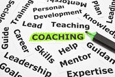 Coaching with other related words — Stock Photo