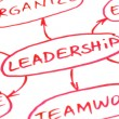 Stock Photo: Leadership Flow Chart Red Pen
