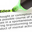 Stock Photo: Idea highlighted in green