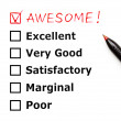 Stock Photo: Awesome customer evaluation form