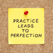 Practice Leads To Perfection — Stockfoto