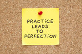 Practice Leads To Perfection — Stock Photo