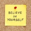 Stock Photo: Sticky Believe In Yourself