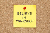 Sticky Believe In Yourself — Stock Photo