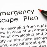 Emergency Escape Plan — Stock Photo