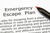 Emergency Escape Plan — Stock Photo