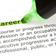 Career highlighted in green — Stock Photo
