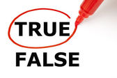True or False with Red Marker — Stock Photo