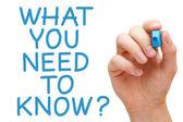 Vad du behöver veta — Stockfoto