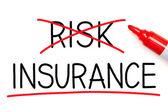 Försäkring inte risken — Stockfoto
