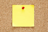 Blank Yellow Sticky Note — Stock Photo