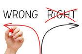Yanlış yolu seçme — Stok fotoğraf