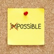 Sticky Note Possible Not Impossible — Zdjęcie stockowe